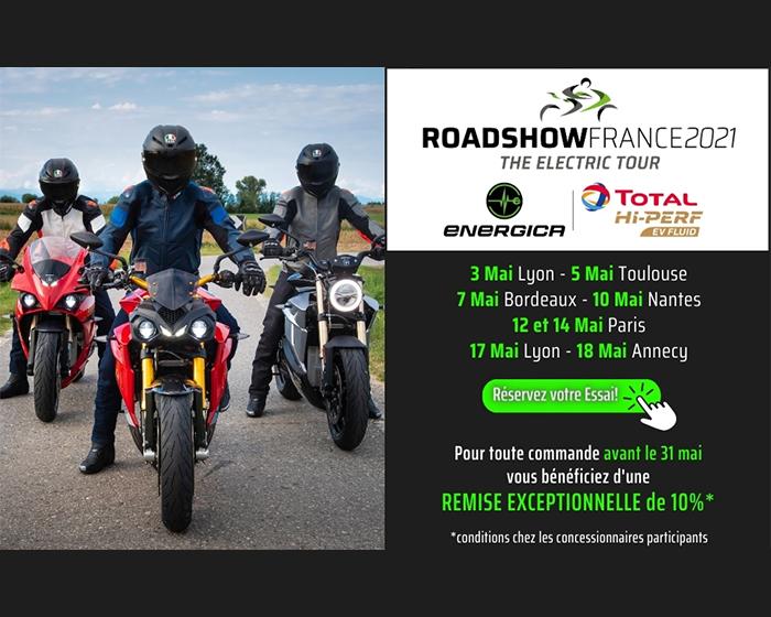 Energica & TOTAL HI-PERF Roadshow France
